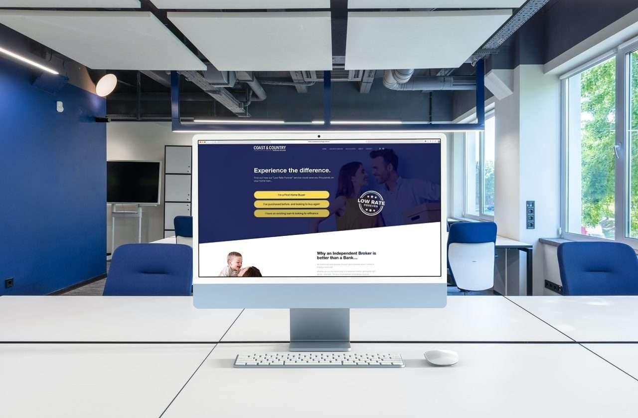 Coast & Country - mortgage broker website designed by Three Peas Marketing